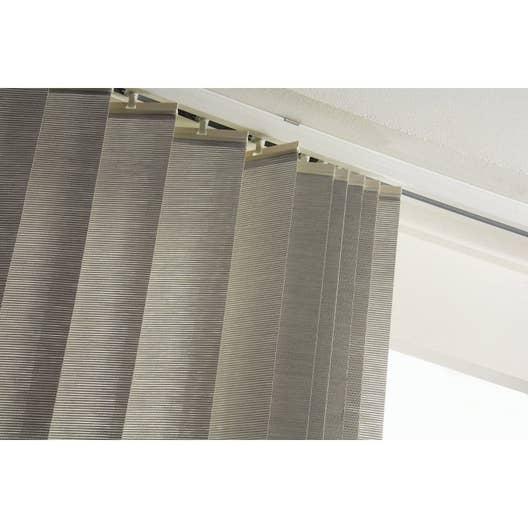 rail lamelles verticales orientables blanc 280 cm leroy merlin. Black Bedroom Furniture Sets. Home Design Ideas