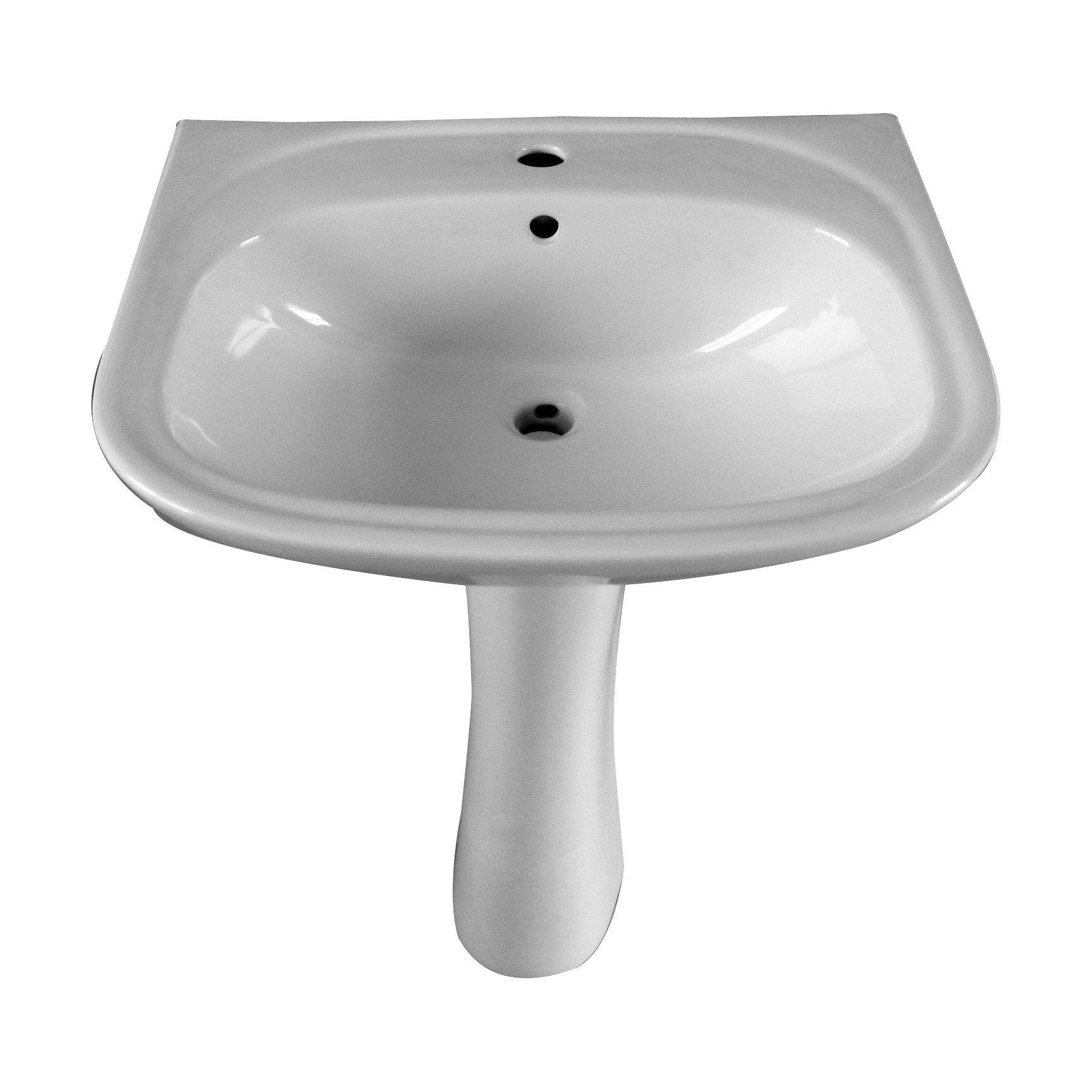 Lavabo Personne Mobilité Réduite lavabo colonne en céramique, blanc nerea