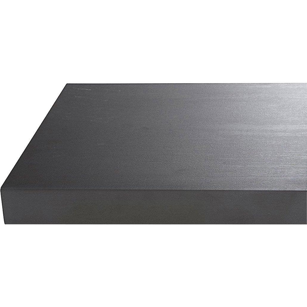 Plan de travail stratifié Effet métal noir Mat L.315 x P.65 cm, Ep.38 mm
