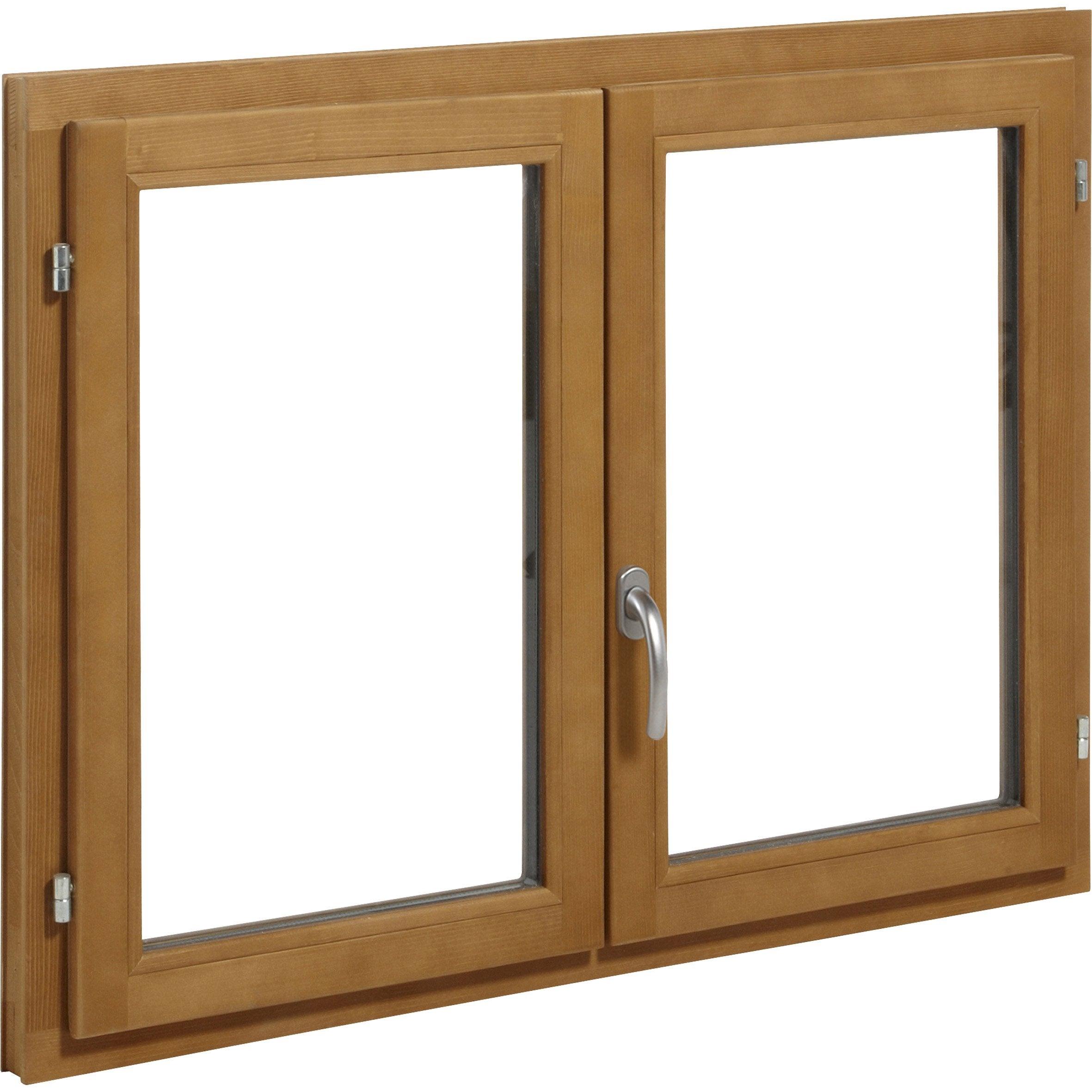 Comment Peindre Des Fenetres En Bois fenêtre bois h.115 x l.140 cm, pin, 2 tirant droit