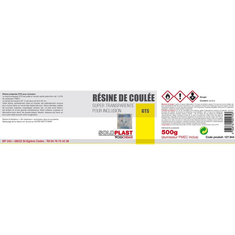 Résine Inclusion Gts Soloplast 500g