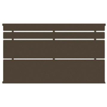 Clôture acier Himalia, divers coloris disponibles, H.85 x l.141.5 cm