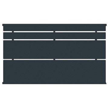 Clôture acier Himalia apprêt gris à peindre, H.85 x l.150 cm