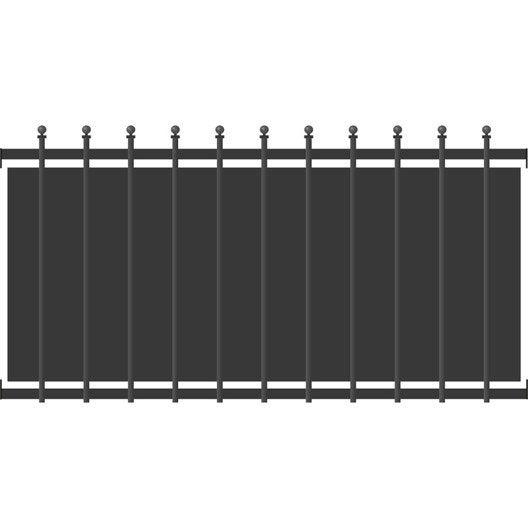 Cl ture aluminium cr te festonne girs ral 7024 x l for Portail hauteur 2m