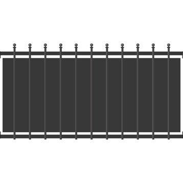 Clôture aluminium Crète festonne gris, H.79 x l.150 cm