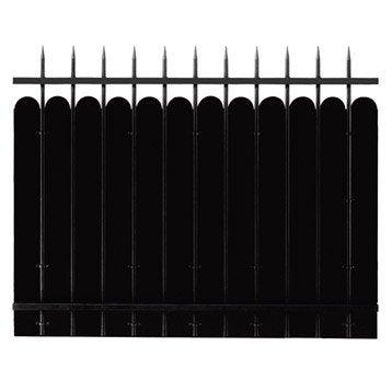 Clôture acier Katana apprêt noir à peindre, H.120 x l.150 cm