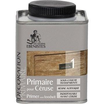 Primaire, mat, LES ANCIENS EBENISTES, Céruse, incolore 0.25 l