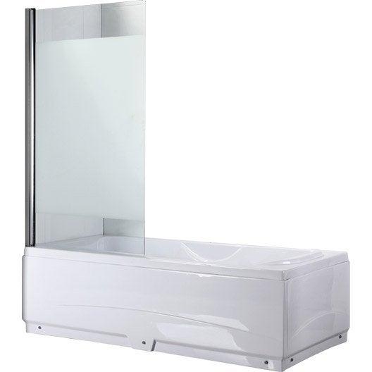 pare baignoire 1 volet quadro verre s curit 5 mm. Black Bedroom Furniture Sets. Home Design Ideas