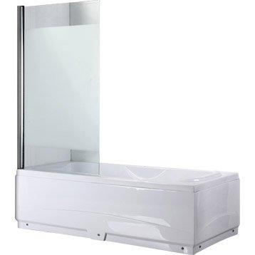 Pare-baignoire 1 volet verre de sécurité 5 mm sérigraphié, Quadro