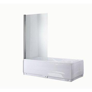 Pare-baignoire 1 volet verre de sécurité 5 mm transparent, Quadro