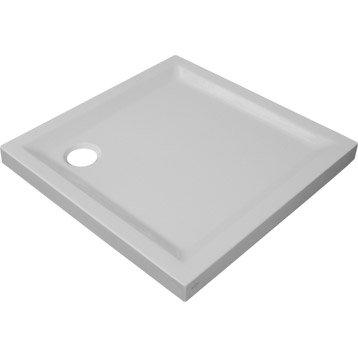 Receveur de douche carré L.80 x l.80 cm, acrylique blanc Houston