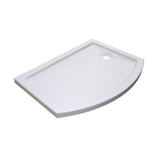 receveur de douche asym trique 125 x 90 cm acrylique blanc look version droite leroy merlin. Black Bedroom Furniture Sets. Home Design Ideas