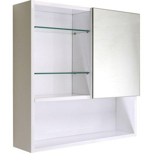 armoire de toilette blanc cm simply leroy merlin. Black Bedroom Furniture Sets. Home Design Ideas