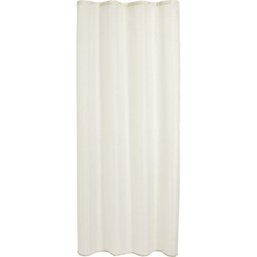 Rideau de douche en tissu happy sensea blanc blanc n 0 - Rideau de douche leroy merlin ...