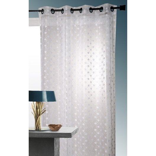 voilage solaire blanc x cm leroy merlin. Black Bedroom Furniture Sets. Home Design Ideas