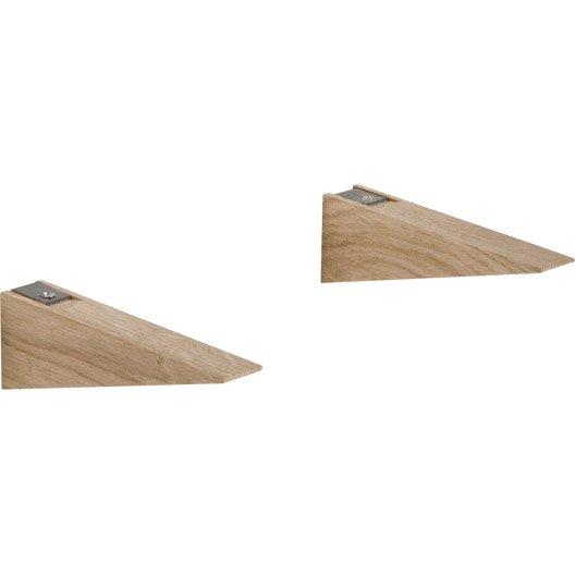 Equerre bois chêne, L.17.5 x l.30 cm