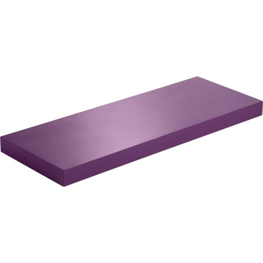 Etag re murale violet tulipe n 3 color spaceo l 60 x p 23 5 cm p 38 mm - Etageres leroy merlin ...