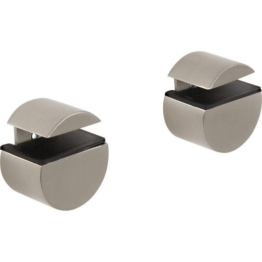 equerre clip mini circle pour tag re murale en acier leroy merlin. Black Bedroom Furniture Sets. Home Design Ideas