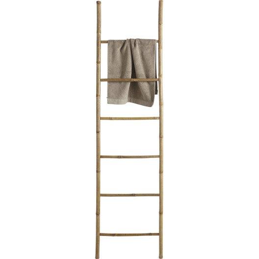Porte serviettes porte serviettes et s choir leroy merlin - Echelle bambou leroy merlin ...