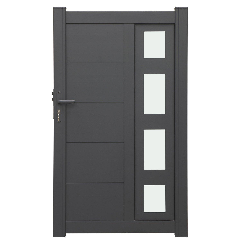 portillon battant en aluminium austin x cm leroy merlin. Black Bedroom Furniture Sets. Home Design Ideas