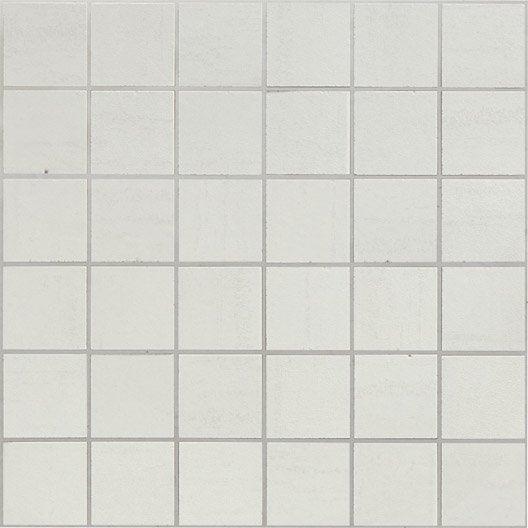 Mosa que eiffel artens blanc 5x5 cm leroy merlin for Carrelage 5x5 blanc