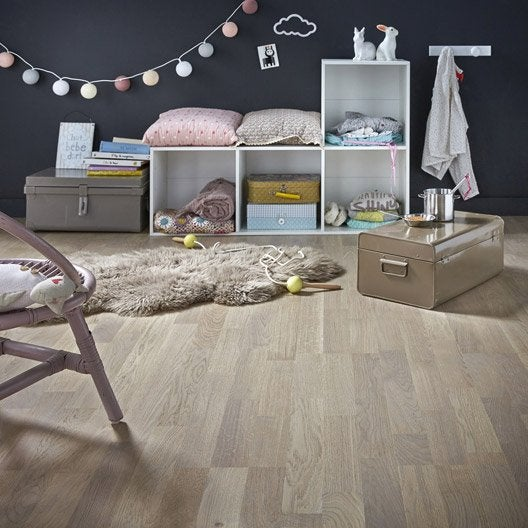 parquet contrecoll ch ne gris clair vitrifi multifrise artens line leroy merlin. Black Bedroom Furniture Sets. Home Design Ideas
