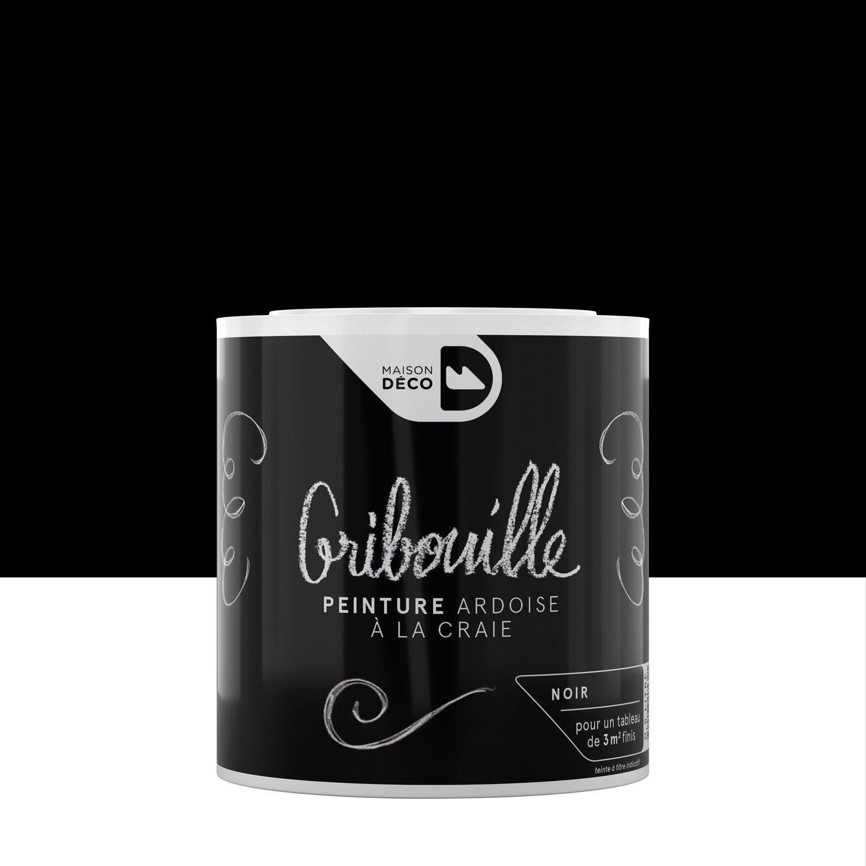 Tableau Noir Deco Pour Cuisine peinture tableau craie noir mat maison deco gribouille 0.5 l