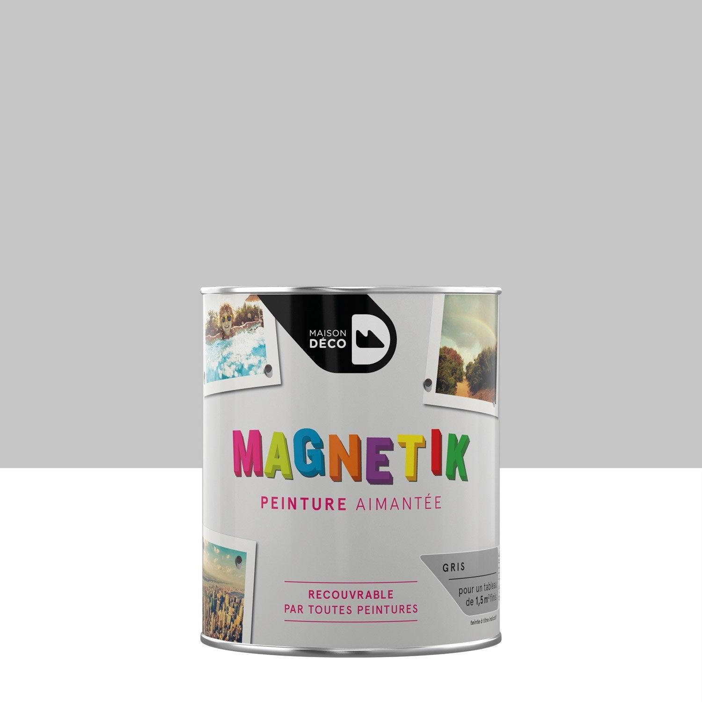 peinture magn tique gris satin maison deco magn tik c 39 est. Black Bedroom Furniture Sets. Home Design Ideas