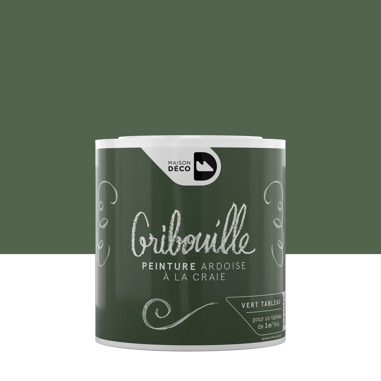 Peinture Tableau Craie Vert Mat MAISON DECO Gribouille 0.5 L ...