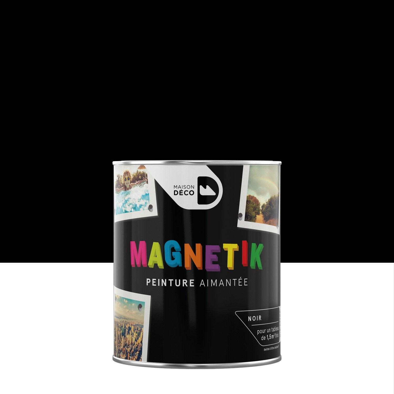 Peinture Magnétique Noir Satin Maison Deco Magnétik Cest Génial