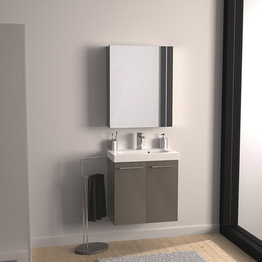Meuble de salle de bains meuble sous vasque colonne - Miroir salle de bains leroy merlin ...