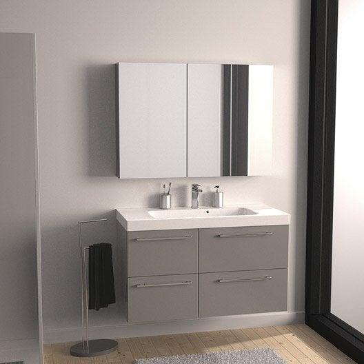 Meuble de salle de bains de 100 à 119, gris / argent, Remix