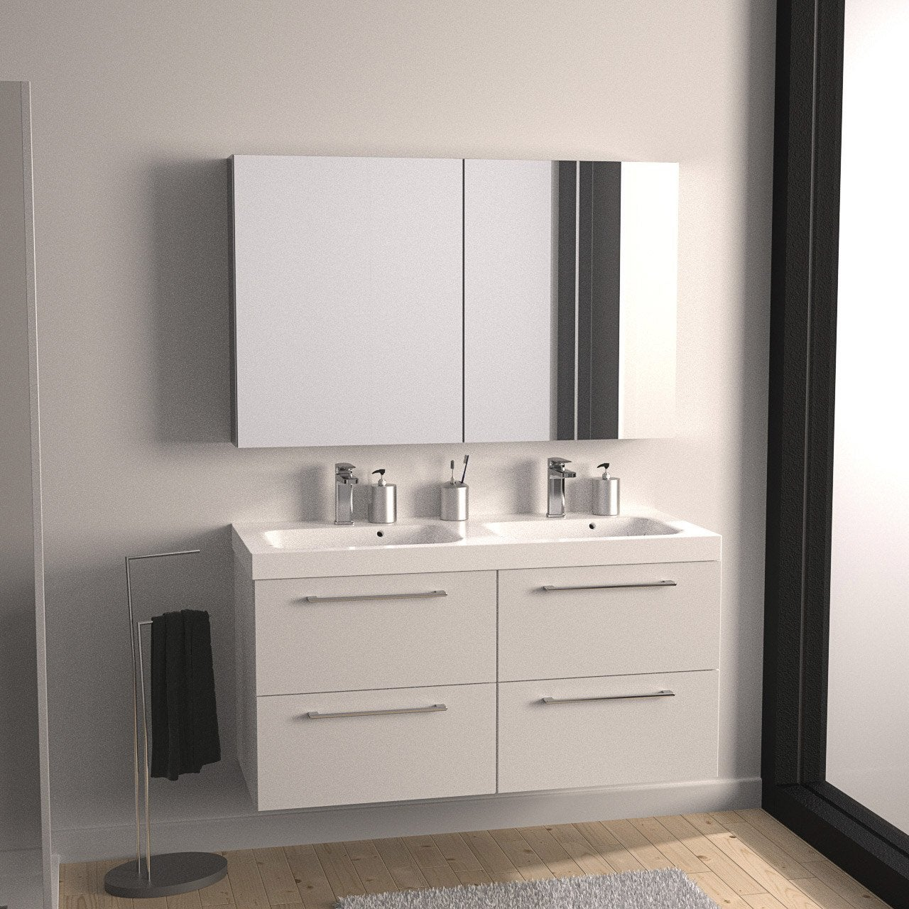 meuble de salle de bains plus de 120 blanc remix leroy merlin. Black Bedroom Furniture Sets. Home Design Ideas