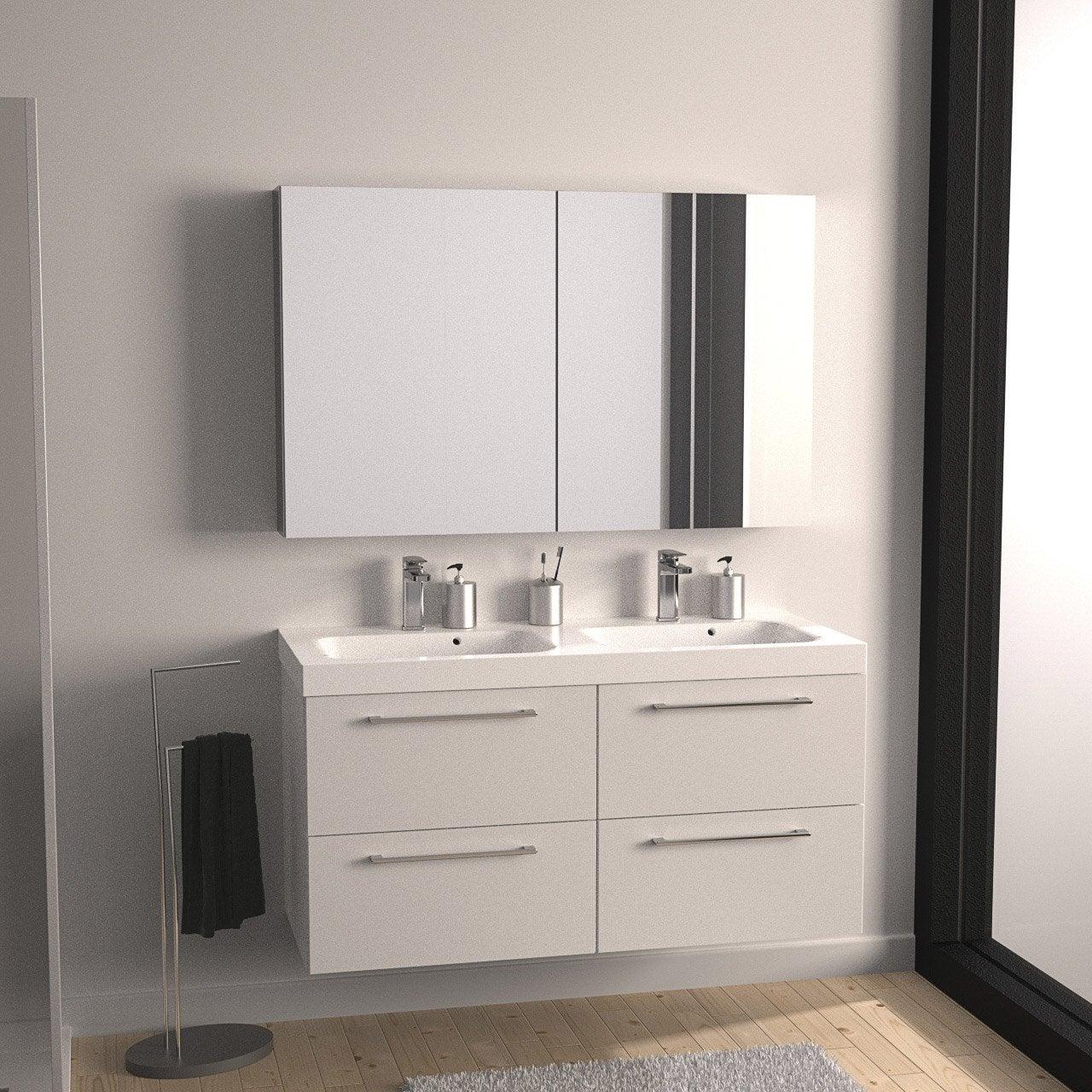 Meuble de salle de bains plus de 120, blanc, Remix | Leroy Merlin