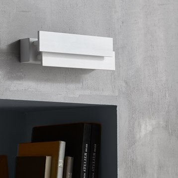 Applique, led intégrée Taz, 2 x 10 W, métal blanc, INSPIRE