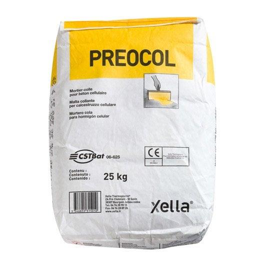 Mortier colle pour b ton cellulaire preocol preocol 25 for Crepi exterieur pour beton cellulaire
