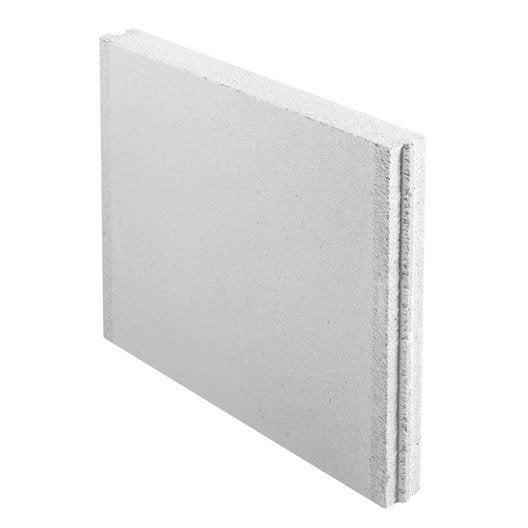 Carreau de b ton cellulaire embo tement x x ep for Prix beton cellulaire