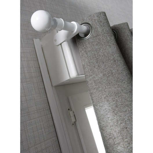 support sans per age tringle rideau ib 25 mm blanc satin ib leroy merlin. Black Bedroom Furniture Sets. Home Design Ideas