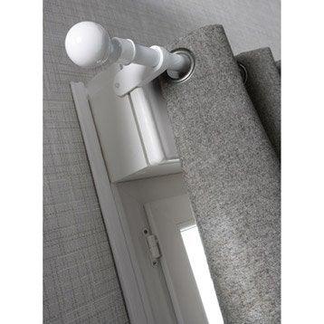 tringle rideau et support sans percer au meilleur prix. Black Bedroom Furniture Sets. Home Design Ideas