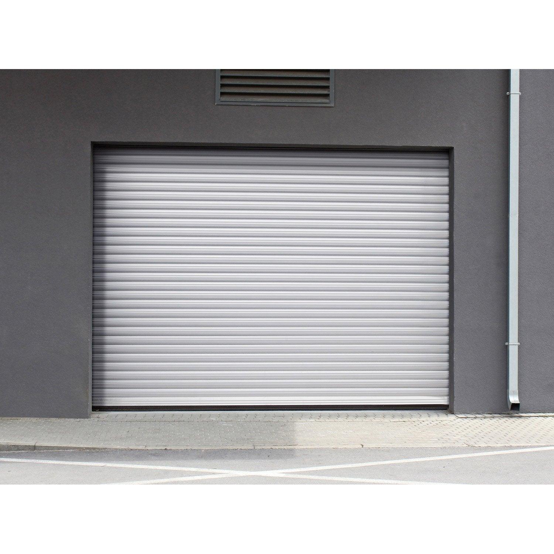 Porte de garage enroulement motoris e artens essentiel h - Montage d une porte de garage sectionnelle motorisee ...
