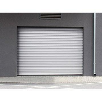 Porte de garage à enroulement motorisée ARTENS essentiel H.200 x l.240 cm