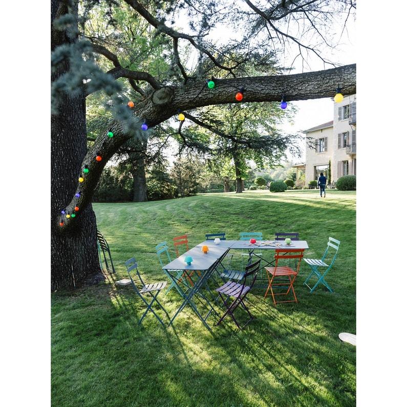 Table de jardin FERMOB Bistro rectangulaire gris orage 6 personnes ...