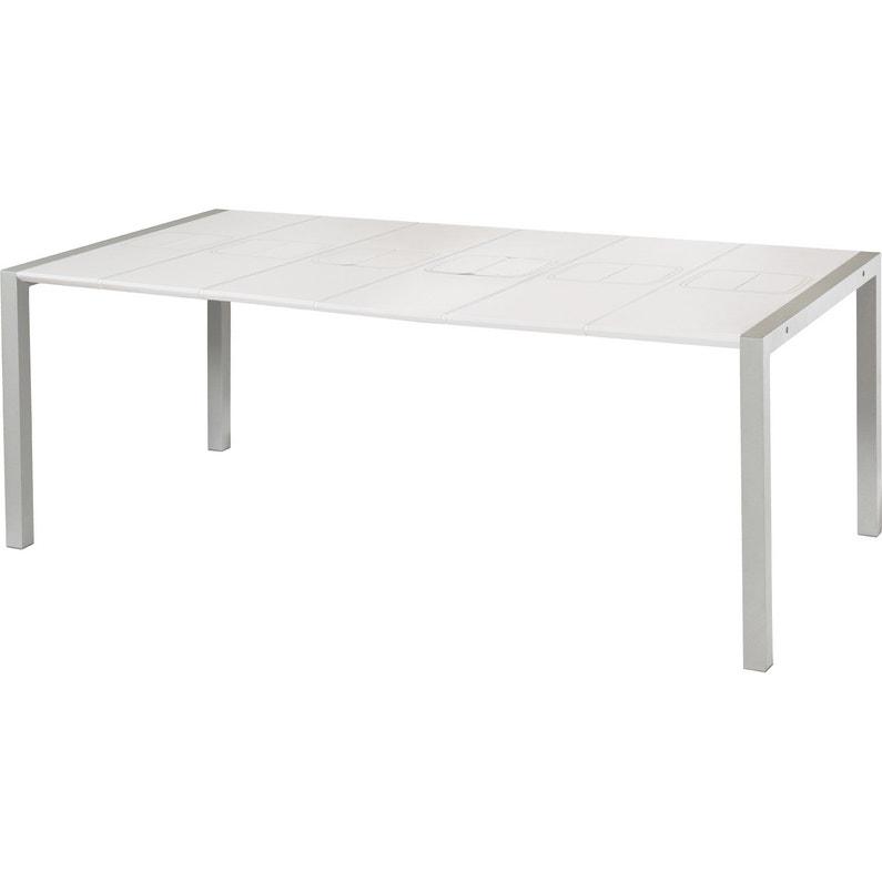 Table de jardin GROSFILLEX Sunday rectangulaire blanc glacier 8 ...