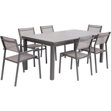 table de jardin aluminium bois r sine au meilleur prix leroy merlin. Black Bedroom Furniture Sets. Home Design Ideas