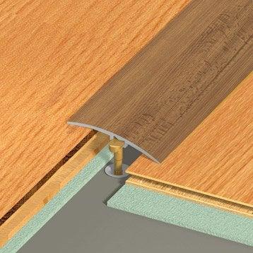 Barre de seuil aluminium revêtu déco décor chêne L.270 x l.4.1 cm