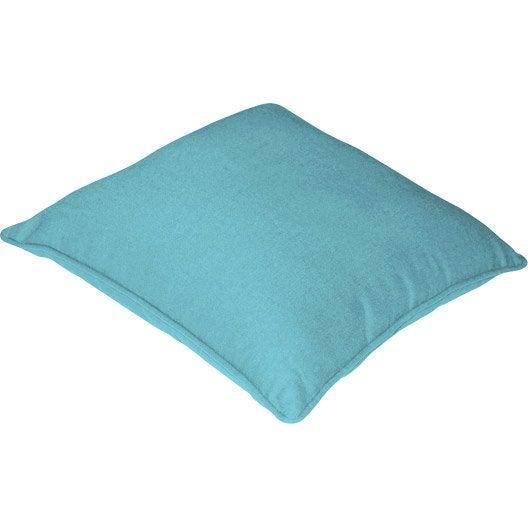 Housse de coussin cl a inspire bleu atoll n 5 x cm leroy merlin - Leroy merlin coussin ...