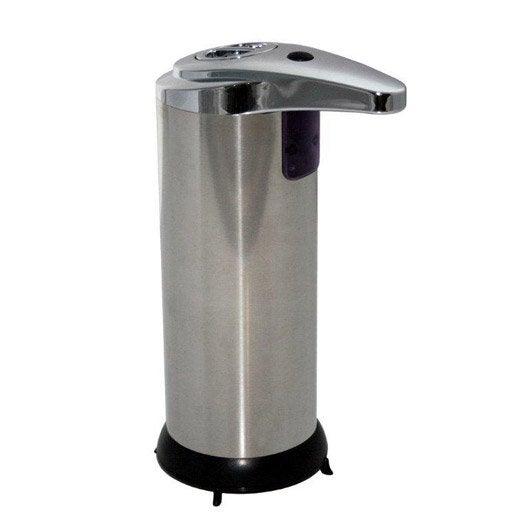 Distributeur de savon automatique inox chromé