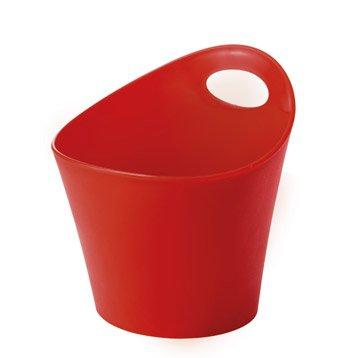 Pot ustensiles plastique rouge for Pot a couverts cuisine