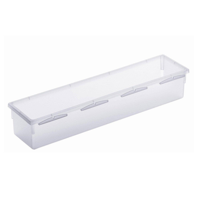 organisateur tiroir transparent l 8 x cm leroy merlin. Black Bedroom Furniture Sets. Home Design Ideas