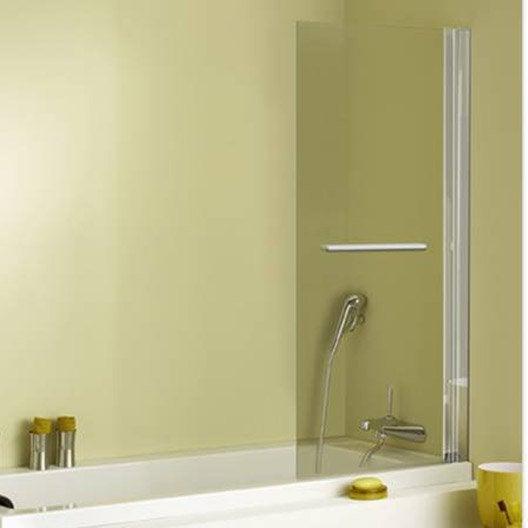 pare baignoire 1 volet verre de s curit 5 mm transparent keo leroy merlin. Black Bedroom Furniture Sets. Home Design Ideas